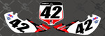 Custom # Plate Graphics KLX Style- Name and # on front and side plates