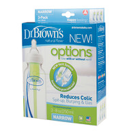 Dr Brown's 250ml Baby Bottle Narrow Neck Options Bottle 3 Pack