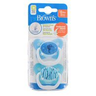 Dr Brown's PreVent Orthodontic Soother 12+ months Twin Pack Blue