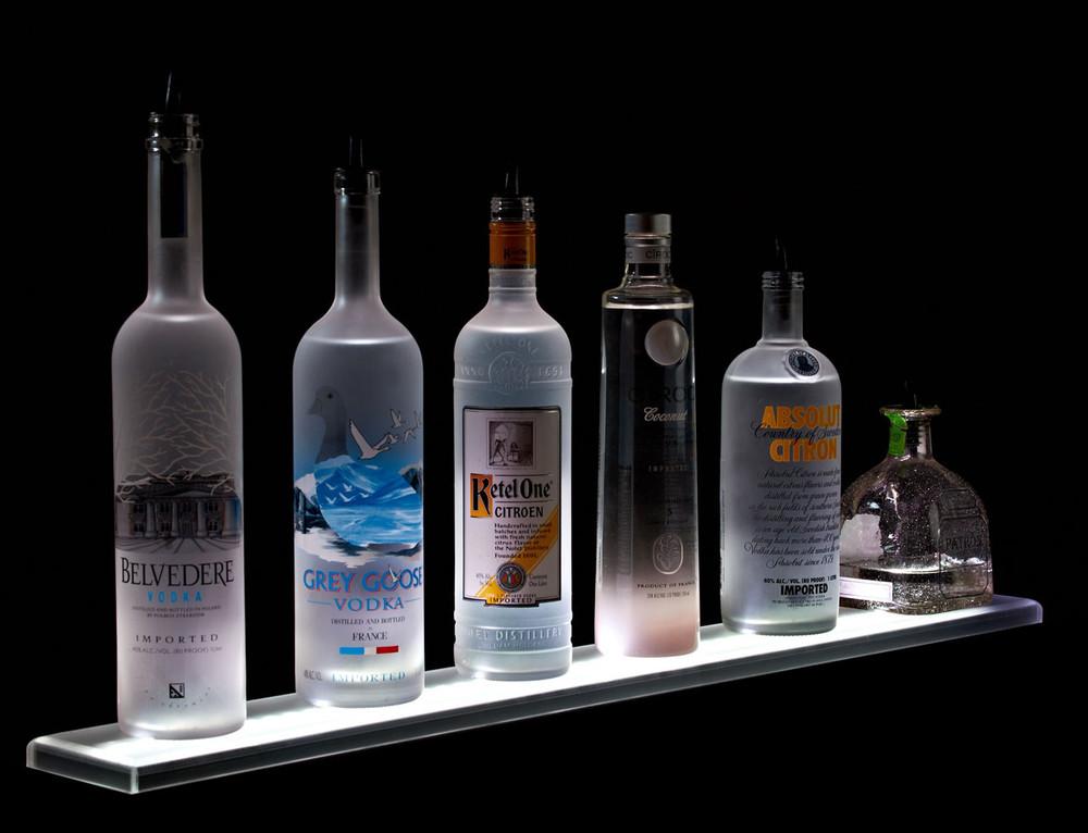 LED Lighted Liquor Bottle Shelf