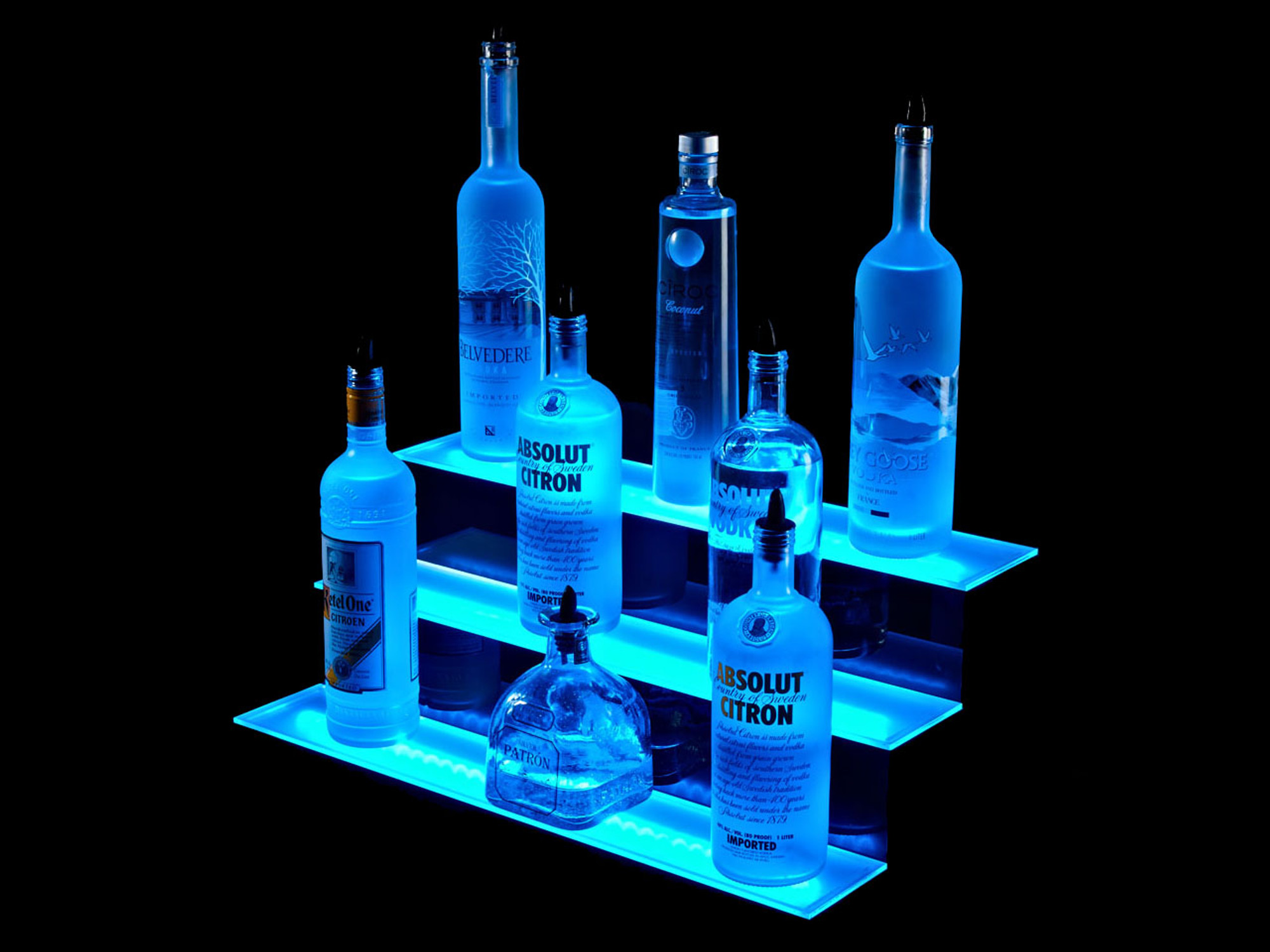361969473841 additionally 2 Tier Led Liquor Shelf Display likewise How To Build A Tron Bar That Daft Punk Would Hang Out At together with 360826670040 in addition Led Strip Lights. on liquor shelves for led light strips