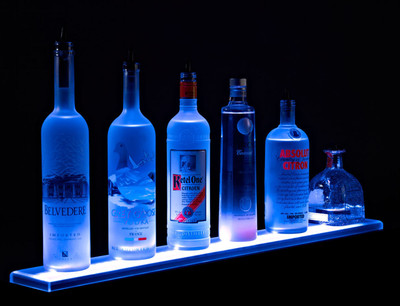 LED Lighted Liquor Bottle Shelf