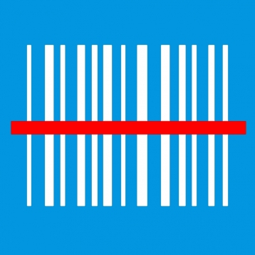 Barcode with Laser Scanner Read Line