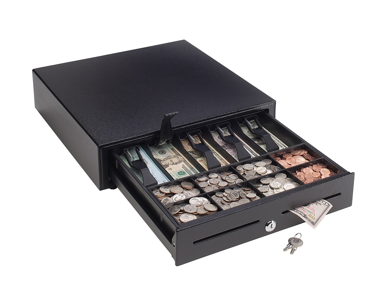 p qualilty notes key bill money cash slot open cashbox box pos drawers auto photo cashier drawer