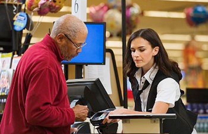 pos system at grocery store