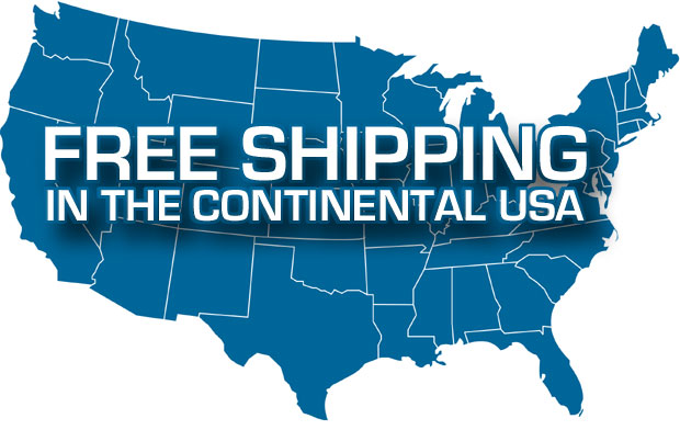 Free shipping in the lower 48 states