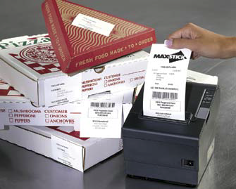 Maxstick sticky thermal paper