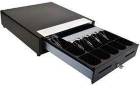 MS Cash Drawer EP-107N2 with Media Slots, Black