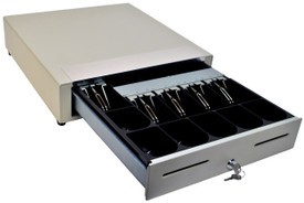 MS Cash Drawer EP-107N2, White with Media Slots