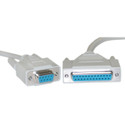 6 Foot Serial/RS232 Null Modem Printer Cable Beige, 2901-6MF9