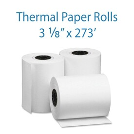 "3-1/8"" Wide x 273 Feet Long Thermal Receipt Paper"