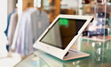 HECKLER DESIGN, WINDFALL C, SKY WHITE, SECURE POINT-OF-SALE STAND FOR IPAD 2, 3, 4, INCLUDES PIVOTTABLE, PIVOTTACK SOLD SEPARATELY, HDWF1CSW