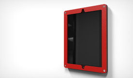 HECKLER DESIGN, HIGHSIGN FOR IPAD, SECURE MOUNTING FRAME FOR IPAD 2,3,4, BRIGHT RED, HDHSL01BR