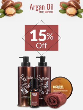 Image offering 15% off on Argan Oil products