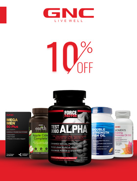 Image offering 10% off on GNC products