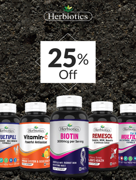 Image offering 20% Off on Herbiotics Products