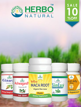 Image offering 10% Off on Herbo Natural Products