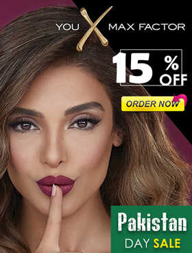 Image offering 15% sale on Max Factor