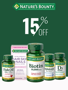 Image offering 15% off on Nature's Bounty products