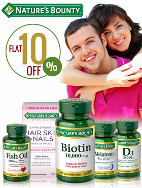 Image offering 10% off on Nature's Bounty products