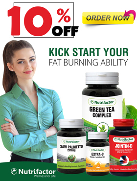 Image offering 10% off on Nutrifactor products