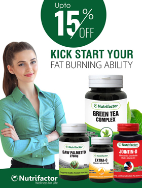 Image offering 15% off on Nutrifactor products