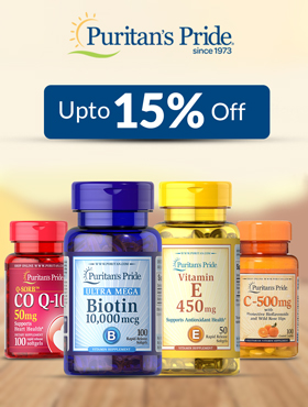 Image offering 15% off on Puritan's Pride products