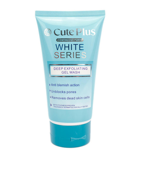 Cute Plus White Series Deep Exfoliating Gel Wash (Front)