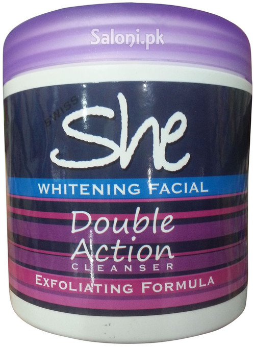 Swiss She Whitening Facial Double Action Cleanser Front