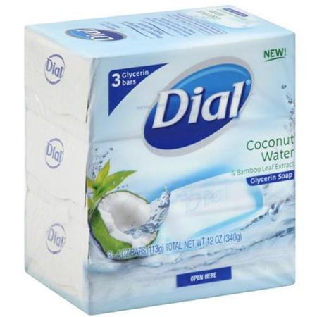 Dial Coconut Water Bar Soap (Pack of 3)