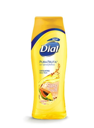 Dial Pura Fruta Papaya & Pineapple Exfoliating Body Wash