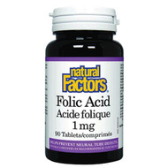 Natural Factors Folic Acid 1 MG