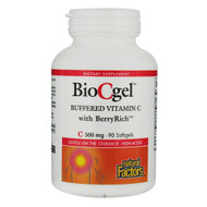 Natural Factors BioCgel Buffered Vitamins With Berryrich 500 MG