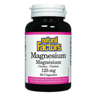 Natural Factors Magnesium Chelate 125 MG