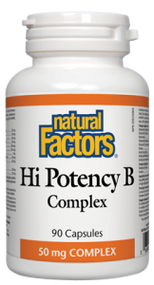 Natural Factors Vit Hi Potency B Complex 50 MG