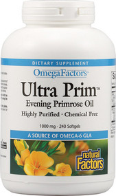Natural Factors Ultra Primrose Evening Primrose Oil 1000 MG