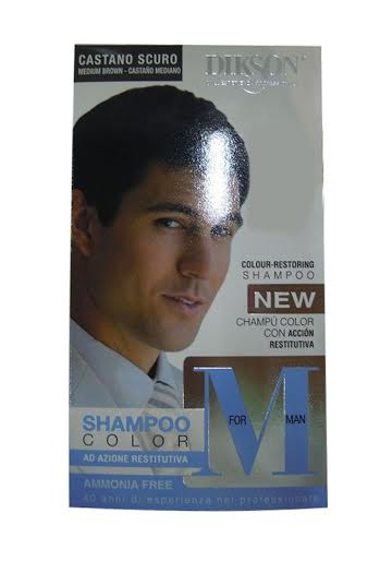 Dikson M For Man Shampoo Color Medium Brown 110 ML