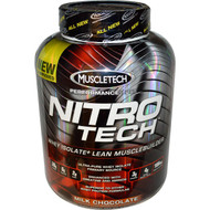 Muscletech Nitro Tech Whey Isolate + Lean Musclebuilder Milk Chocolate Front