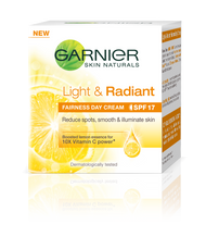 Garnier Skin Natural Light And Radiant Fairness Day Cream SPF17