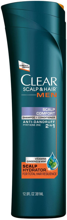 Clear Men Scalp & Hair Scalp Comfort Anti-Dandruff Hydration Shampoo