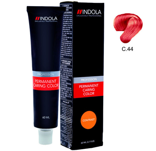 Indola Permanent Caring Hair Colour Contrast Intense Copper C.44