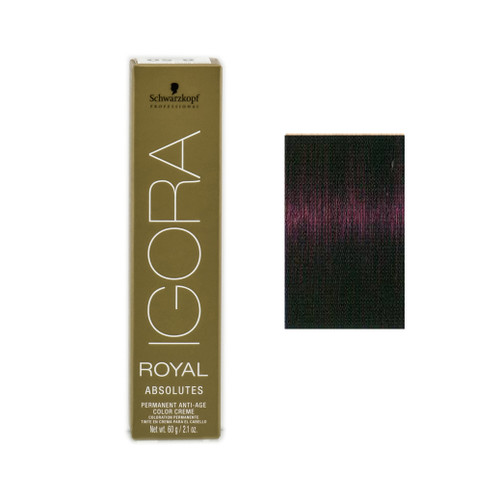 81c4791a15 Schwarzkopf Igora Royal Hair Natural Colour Medium Brown Violet Natural 4-90
