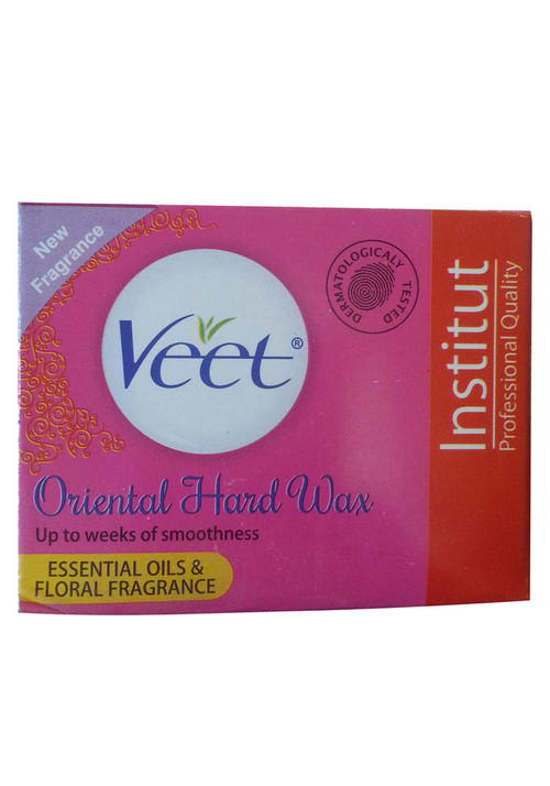 Veet Oriental Hard Wax Essential Oils & Floral Fragrance (Colour Pink)