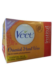 Veet Oriental Hard Wax Essential Oils & Floral Fragrance (Colour Orange)