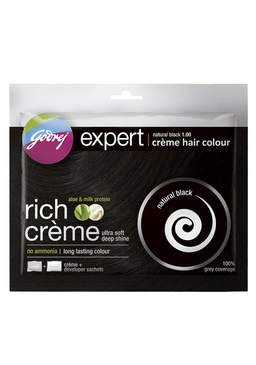 Godrej Expert Natural Black 1.00 Creme Hair Colour