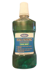 Active Oral Care Extra Strength Mouthwash Cool Mint Front