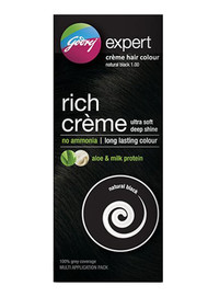 Godrej Expert Rich Creme Hair Colour Natural Black (Multi Application Pack) original products