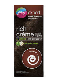 Godrej Expert Rich Creme Hair Colour Natural Brown (Multi Application Pack)