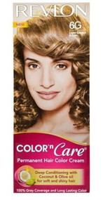 Revlon Color N Care Permanent Hair Color Cream Light Golden Brown-6G