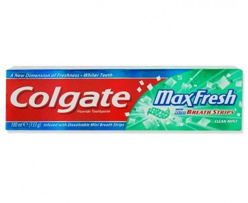 Colgate Max Fresh with Mini Breath Strips Clean Mint Toothpaste